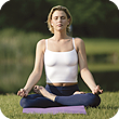 Image of woman meditating.